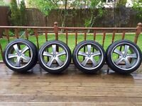"""BMW X5 22"""" Alloy Wheels Alloys Freshly Powder Coated"""