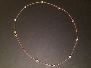 Beautiful 14K GOLD necklace with gems