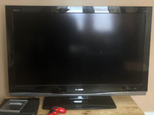 "42"" Sharp Aquos flatscreen"