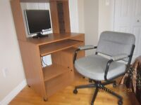 Computer desk,chair and  19 inch monitor for sale