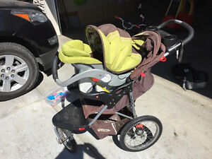 Baby Trend Jogging Stroller and Infant Seat