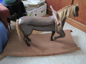 rocking horse antique wood