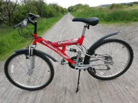 Full suspension mountain bike 24' wheels