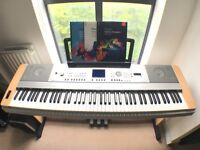 Yamaha DGX-640 Full Size Digital Piano in Cherry Wood Finish with Stand and Pedals