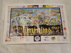 1987 poster promoting 75th anniversary of Timmins