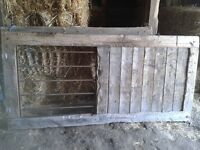 Farm gate ,stall door, old Rice trailer for sale