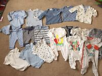 Next boys baby up to 1 month clothes bundle