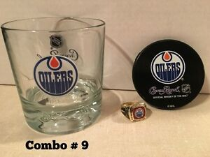 NHL Rings & Glasses Combo GREAT GIFT FOR FATHER'S DAY !!!!