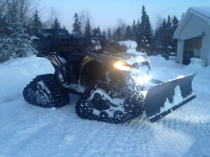 2014 KAWASAKI 750i BRUTE FORCE 4X4 TRACK KIT/ SNOW PLOW