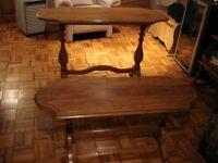 2 tables antiques année 1920