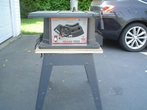 "Sears 10"" Table Saw And Accessories"