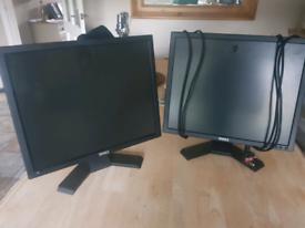 2 Dell monitors