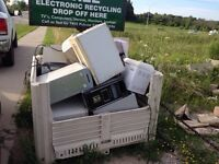 FREE TV pick up e-waste an electronic recycling. Ecycle
