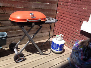 Transportable Stork BBQ with full gas tank
