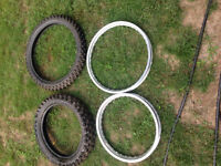 I have a mint rear and front takasago exel rims &set of tires