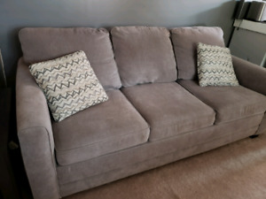 Queen sofa bed pull out couch plus storage ottoman