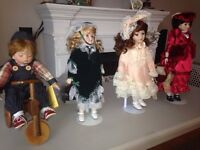 PORCELAIN CHINA DOLLS IN PERFECT CONDITION $25