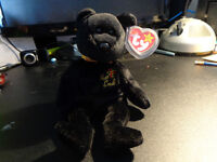 Rare TY Beanie Babies The End Bear with tag errors 1999