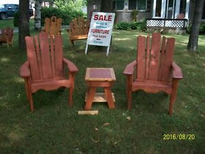 Hand made lawn furniture