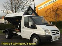 2010/ 60 Ford Transit 115 T350m [ 3-Way ] Tipper 10.5ft Alloy Body DRW