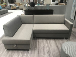 TODI SECTIONAL SOFA BED W/STORAGE – MADE IN EUROPE – CONDO SIZE