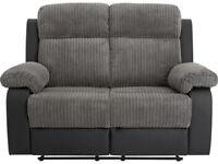 Bradley Regular Manual Recliner Sofa – Charcoal