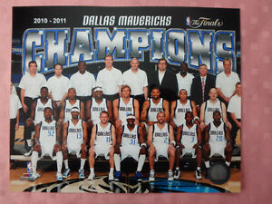 "Dallas Mavericks 2010-11 Championship 10"" x 8"" Team Photo"