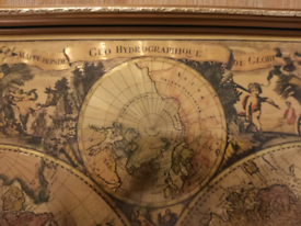 Vintage Foil Map of the world. Perfect for any wall