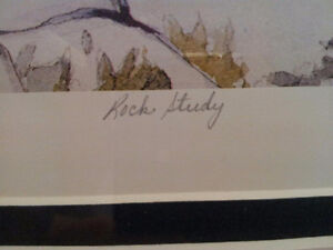 """""""Rock Study"""" Lithograph by A.J. Casson appraised at $650 Sarnia Sarnia Area image 3"""