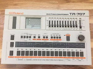 Roland TR-707 analog drum machine
