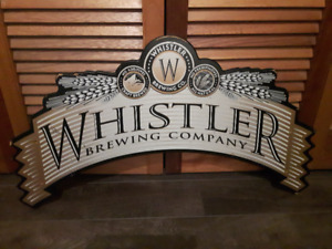 Old Whistler Brewing Company Wooden sign