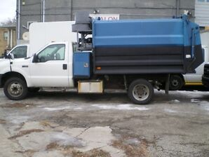 2002 FORD F450 GARBAGE TRUCK