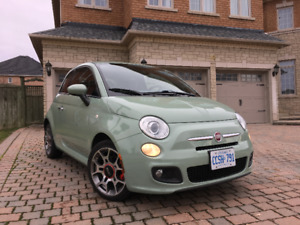 2014 Mint Green Fiat 500 Sport Hatchback