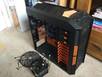 Aerocool mid tower case, ASUS motherboard,cpu cooler,cd drive