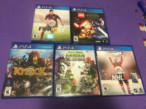 lot jeux playstation 4