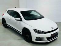VW VOLKSWAGEN SCIROCCO GT TDI 2015 *£20 TAX* WHITE BLUEMOTION 2.0 DIESEL COUPE