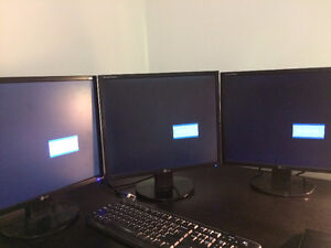 triple 19 inch LG monitors all for $30