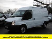 2012 FORD TRANSIT 350/100 MWB MEDIUM ROOF WITH AIR CONDITIONING,PARKING SENSORS,