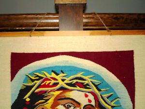 CROWN of THORNS Jesus HAND LOOM WOVEN TEXTILE wall hanging Cambridge Kitchener Area image 7
