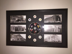 NHL Original Six Arenas Picture with Collectible Plate and Pins