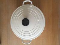 Cast iron Le Creuset pot, 26cm diameter, Almond, RRP £170