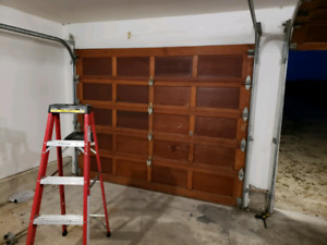 Wooden garage doors 9 by 7