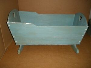 Handcrafted Wooden Cradle for Refinishing