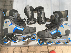 Two pairs of roller blades