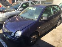 IDEAL FOR SPARES OR REPAIRS POLO 2002
