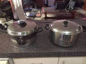 2 Large Stainless Steel Pans Beckenham Gosnells Area Preview