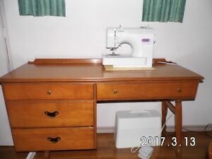Maple Desk, maple dresser,  other end tables,