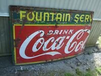RARE, LARGE VINTAGE COCA COLA SIGN; Sale/trade