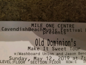 Old Dominion concert tickets for sale! Floor Row E