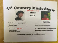 1st Country Music Show Petitcodiac June24
